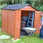 BillyOh Palram Skylight 6 x 8 Fronted Apex Plastic Garden Shed and Storage
