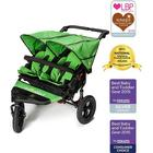 Out n About Nipper Double 360 V4 Stroller-Mojito Green