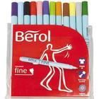Berol Twisted Fine Fibre Tipped Pen 0.6mm 12-pack