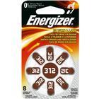 ENERGIZER Hörapparatsbatteri Zinc Air 312 8-pack