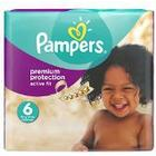 Pampers Premium Protection Active Fit Nappies Monthly Saving Pack - Size 6, Pack of 120