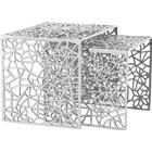 Kokoon Design Alumi - 2 indskuds borde i aluminium