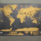 Gemmas Skrabekort - Verdenskort plakat