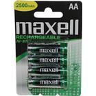 Maxell laddningsbara batterier, AA(LR06), 4-pack, Ni-MH, 2500mAh, 1,2V