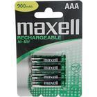 Maxell laddningsbara batterier, AAA(LR03), Ni-MH, 900 mAh, 1,2 V, 4-pack