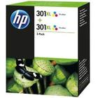 HP 301XL Tri-Colour Ink Cartridge - Twin Pack - D8J46AE