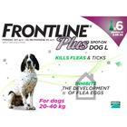 Frontline Plus Flea & Tick Spot On Dog 20-40kg Large Dog x 6 NFA-D