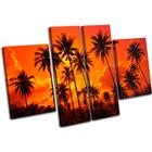 Palm Trees Sunset Seascape - 13-1829(00B)-Mp17-Lo - 140x90cm