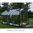 Saturn Green Framed Greenhouse 8X6