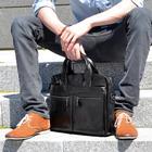 Delton Bags Svart Läder Laptop Väska