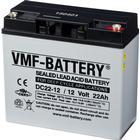 VMF AGM Djupurladdningsbatteri 12 V 22 Ah DC22-12