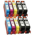 HP 364 XL Bundle 10 pcs. (4 Svart 24 ml och 2 Cyan / Magenta / gul 15ml) SM596EE