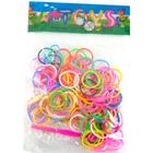 Loom Bands Mix, 200stk m. clips og nål