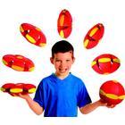 Phlat ball, flyvende tallerken med LED-lys, Rød