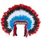 Indianer fjer-hjelm