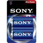 Sony Stamina Plus Batteri Alkaline 2st D/LR20 1,5V