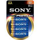 Sony Stamina Platinum Batteri Alkaline 4st AA/LR6 1,5V