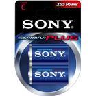 Sony Stamina Plus Batteri Alkaline 2st C/LR14 1,5V