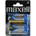 Maxell batterier, D (LR20), Alkaline, 1,5V, 2-pack