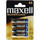 Maxell Super Alkaline, LR06 / AA batterier, 1,5V, 4-pack