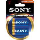 SONY Platinum batteri, C-LR14, Stamina PLATINUM, 2-pack