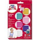 FIMO® Kids ler, suppleringsfarver, 6x42g