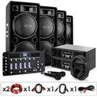 "PA System ""London Calling II"" Dual 15"" 2000W Speaker Pair, Ibiza DJ CD Mixer, 2000W Amplifier"