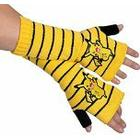 Pokémon POKEMON Women's Pikachu Fingerless Striped Gloves, Yellow, One Size