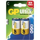 Batteri Ultra Plus Alkaline C/LR14 2st/fp