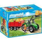 Playmobil Stor Traktor Med Trailer 6130