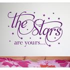Createworks The Stars Are Yours - Wall Quote Sticker - Wa280x - Light Pink - Small