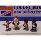 """Noddy, Big Ears, Golly And Mr Plod, Each 1 3/4"""" High, Fully Painted To"""