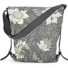 Ceannis Flower Linen Black Shoulderbag