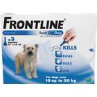 Frontline Flea Spot On Dog Medium Dog 10-20kg x 3