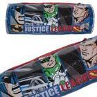 DC 5585010PVC Justice League Batman/Superman/Flash/Green Lantern Round Pencil Case
