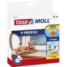 Tesa P-profil Gummi Tætningsliste Hvid – 9mm x 25m