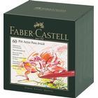 Faber-Castell PITT Artist Pen Pensel Atelier Kasse med 60 167150