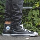 Converse MEN'S SHOES SNEAKER CONVERSE CHUCK TAYLOR ALL STAR LEATHER 132170C BLACK Size 42