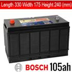 BOSCH Fritidsbatterier Fritidsbatteri 12V 105 Ah Bosch L4033 L4034 Dual Purpose