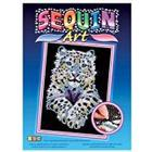 sequin art 1404 Snow Leopard Craft
