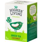 Higher Living Green Tea Coconut 20 Tepåsar