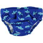 Playshoes Badblöja med UV-skydd blå med hajmönster
