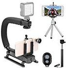 """Neewer® Photography Kit for iPhone 6 Plus/6/5s/5c/5/4s/4,Samsung Galaxy S5/S4/S3, Note2/Note3 and Other Smart Phones, Kit includes: 4-in-1 Self Portrait Set: (1)43""""/110cm Black Extendable Monopod Selfie Stick + (1)Universal Adjustable Phone Holder + (1)8"""