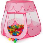 TecTake Børnetelt med 100 bolde lyserød