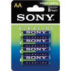 SONY Alkaline, LR06 / AA batterier, alkaliska, 1,5V, 4-pack