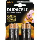 Duracell Plus Power alkaliskt batteri, AA (LR06), 1,5V, 4-pack