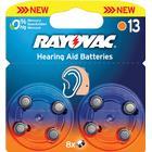 Hörapparatsbatteri 13, 8-pack