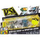 Mattel VS Rip-Spin Warriors Halo Master Chief vs Spartan Locke (2 Pack)