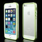 iPhone 5/5s/SE TPU Bumper - Gennemsigtig/Grøn