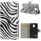 Samsung Galaxy S5 Mini Design Flip Cover Med Pung - Zebra
